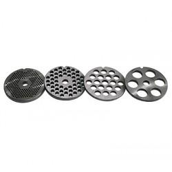 placa picar carne metalica 6 agujeros